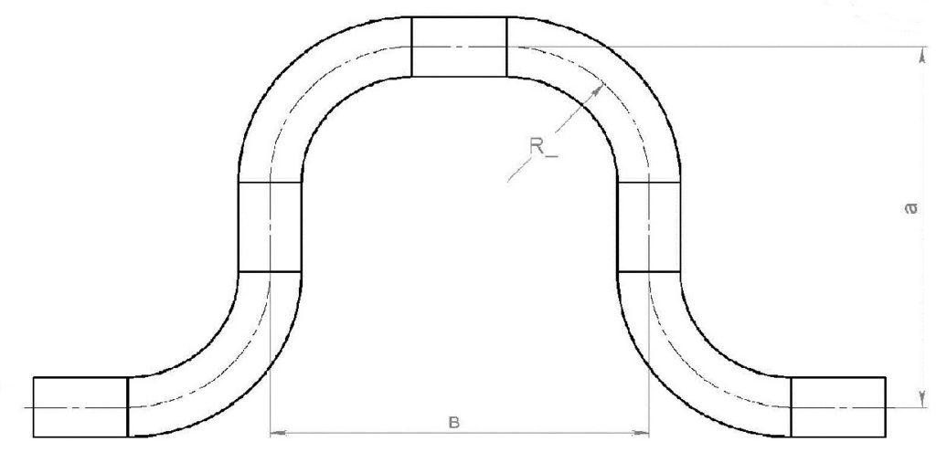 Гнутый П-образный компенсатор из трубы
