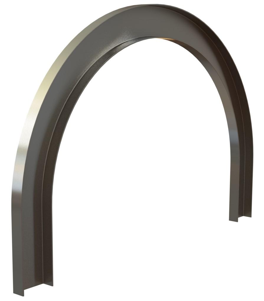 гибка швеллера для усиления арки